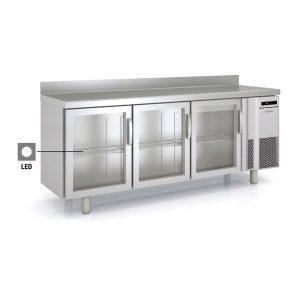 mesa refrigerada puerta de cristal bmr-200-v