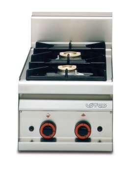 COCINA DE SOBREMESA A GAS PC-4G LOTUS - Frío Alhambra