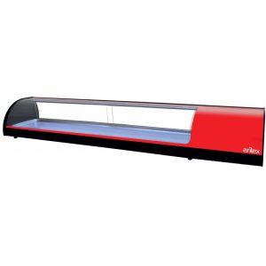vitrina refrigerada 8VTL roja