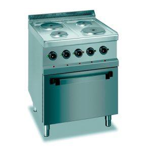 Cocina Línea 700 Eurofred ME 7-70 con horno eléctrica