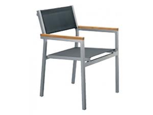 silla con brazos cubic contract resol gris claro