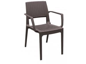 silla con brazos modena contract resol chocolate