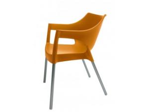 silla con brazos pole barcelona db resol naranja