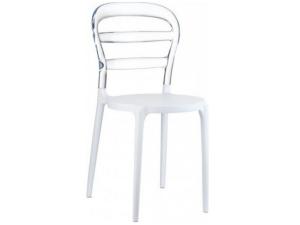 silla frappe contract resol transparente y blanco