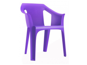 silla con brazos cool contract resol violeta