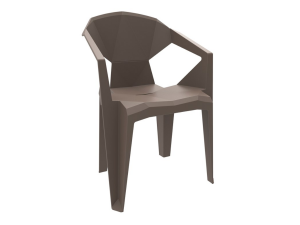 silla con brazos delta contract resol chocolate