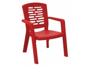 silla con brazos corfú contract resol rojo