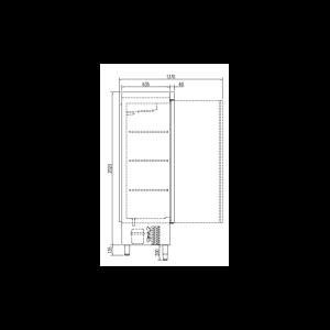 Armario Snack Congelación Departamentos CQ-ACS-140-3 ColdQueen